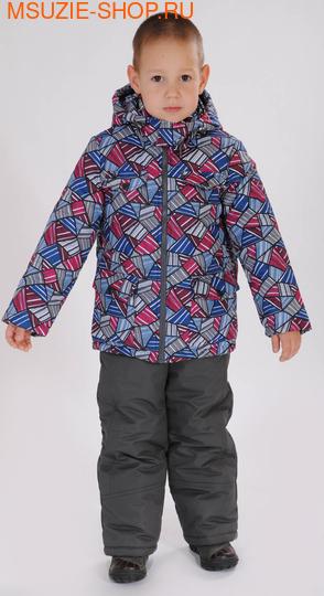 Милашка Сьюзи куртка+п/комбинезон (ЗИМА). 104 серый ростЗима <br><br>