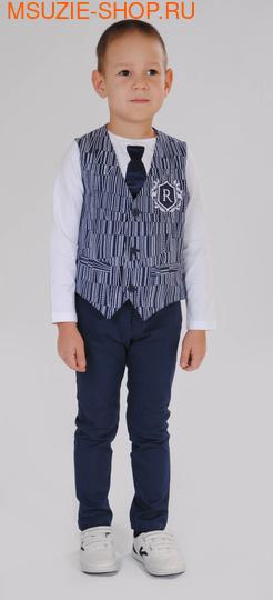 Милашка Сьюзи жилет+брюки+джемпер. 104 синий ростНарядная одежда<br><br>