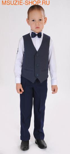Милашка Сьюзи жилет+брюки+сорочка+бабочка. 104 синий ростНарядная одежда<br><br>