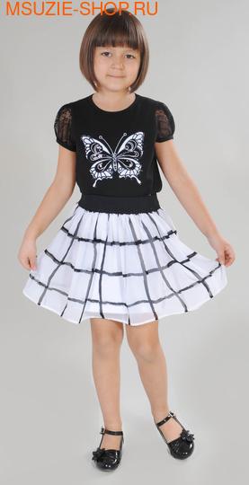 Милашка Сьюзи блузка+юбка. 110 черный ростНарядные костюмы  <br><br>