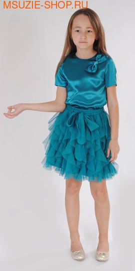 Милашка Сьюзи блузка+юбка. 110  морская волна ростНарядные костюмы  <br><br>