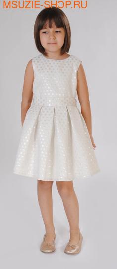 Милашка Сьюзи платье. 104 молочный (горох) ростНарядные платья <br><br>
