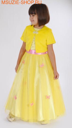 Милашка Сьюзи платье+болеро. 110 желтый ростНарядные платья <br><br>