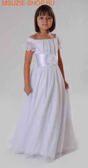 Милашка Сьюзи платье. 110 белый ростНарядные платья <br><br>