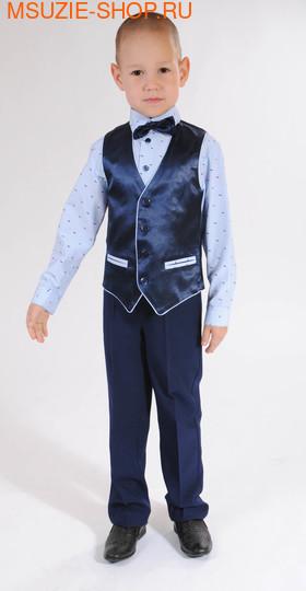 Флер де Ви жилет+брюки+сорочка+бабочка. 104 полоска ростНарядная одежда<br><br>