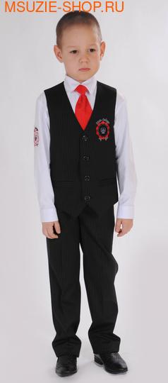 Милашка Сьюзи жилет+брюки+сорочка+галстук. 104 черный ростНовинки<br><br>