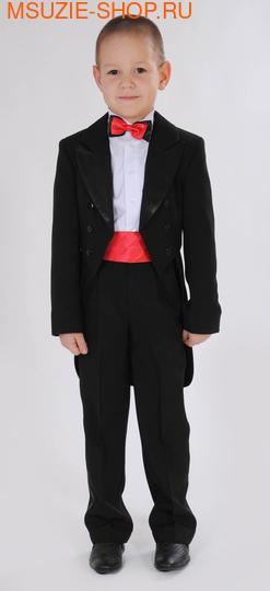 Милашка Сьюзи фрак+брюки+сорочка+бабочка+кушак. 104 черн (красный) ростНовинки<br><br>