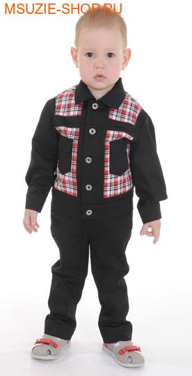 Милашка Сьюзи куртка+брюки. 104 черный ростКостюмы <br><br>