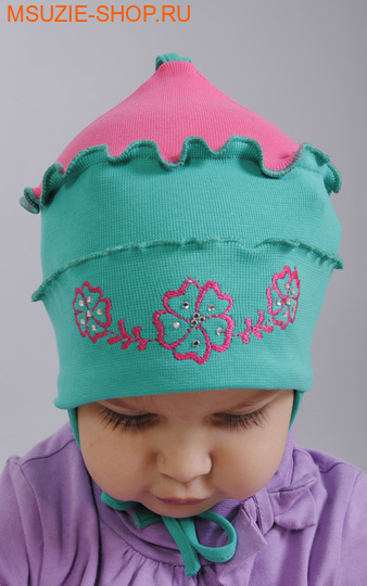 Милашка Сьюзи шапочка. 62 зеленый ростГоловные уборы,варежки,перчатки <br><br>