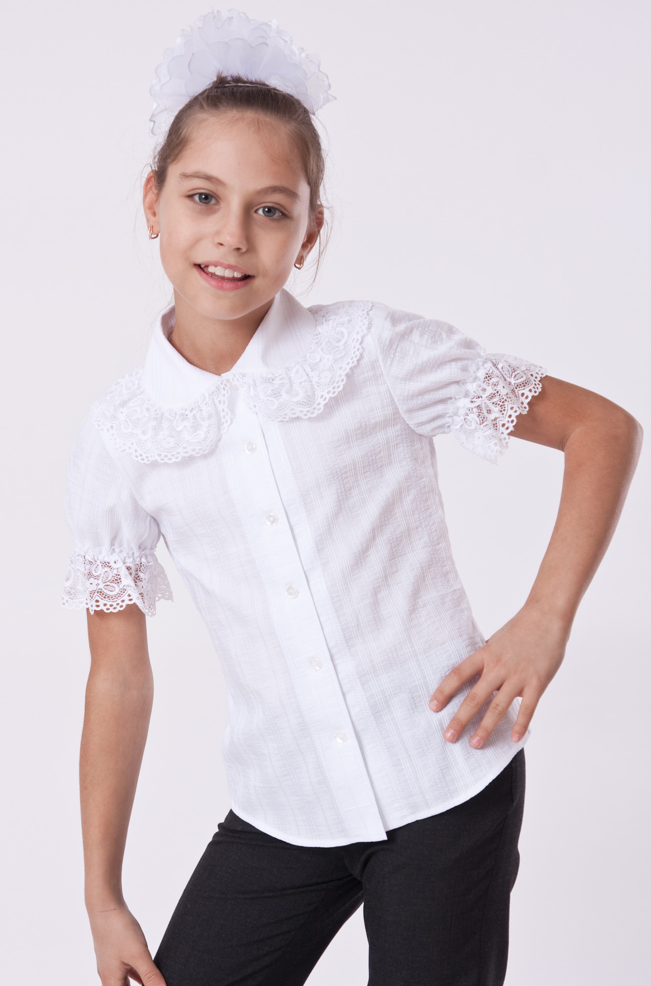 Блузки в школу для девочек сшить