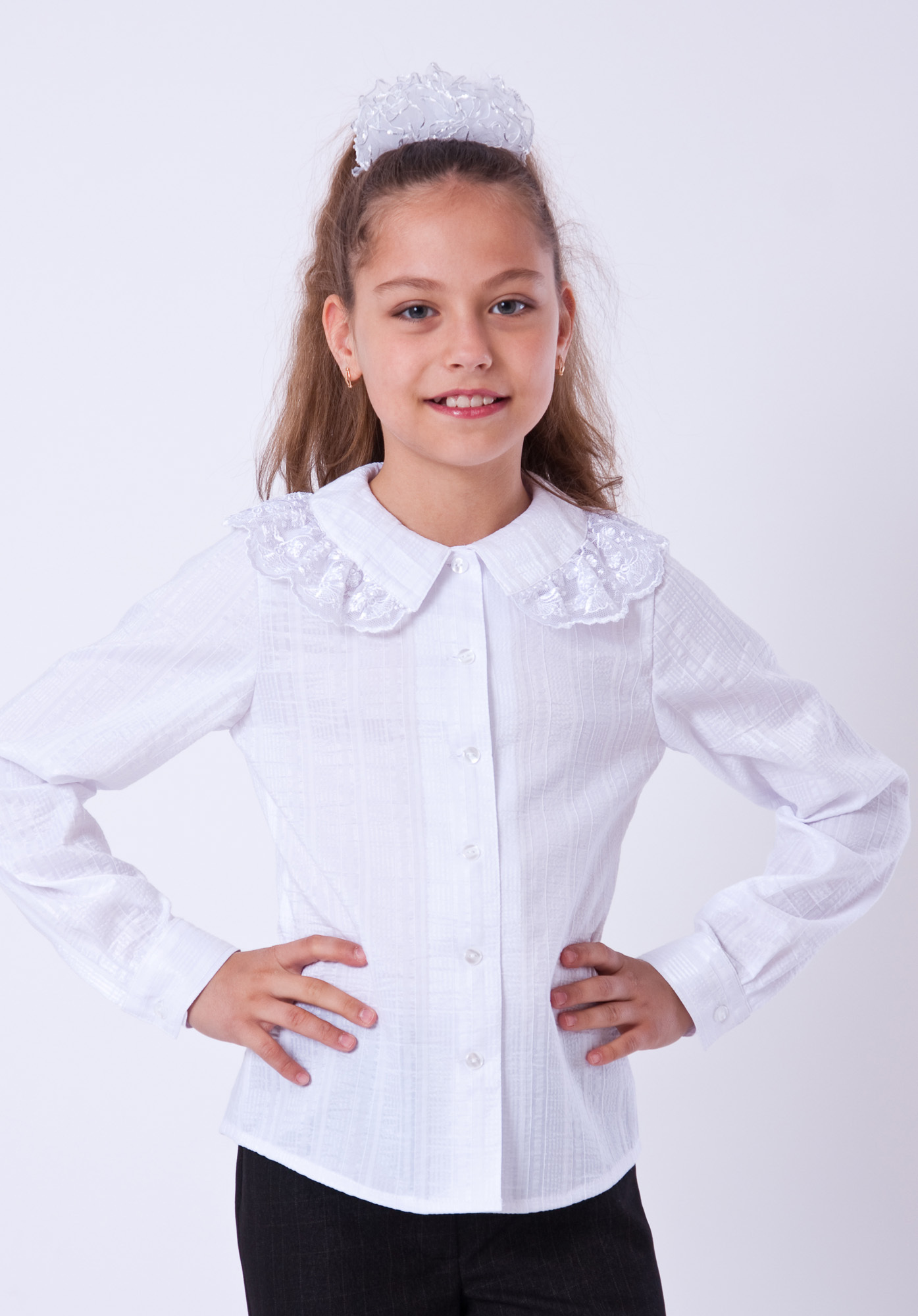 Детская Белая Блузка Казань