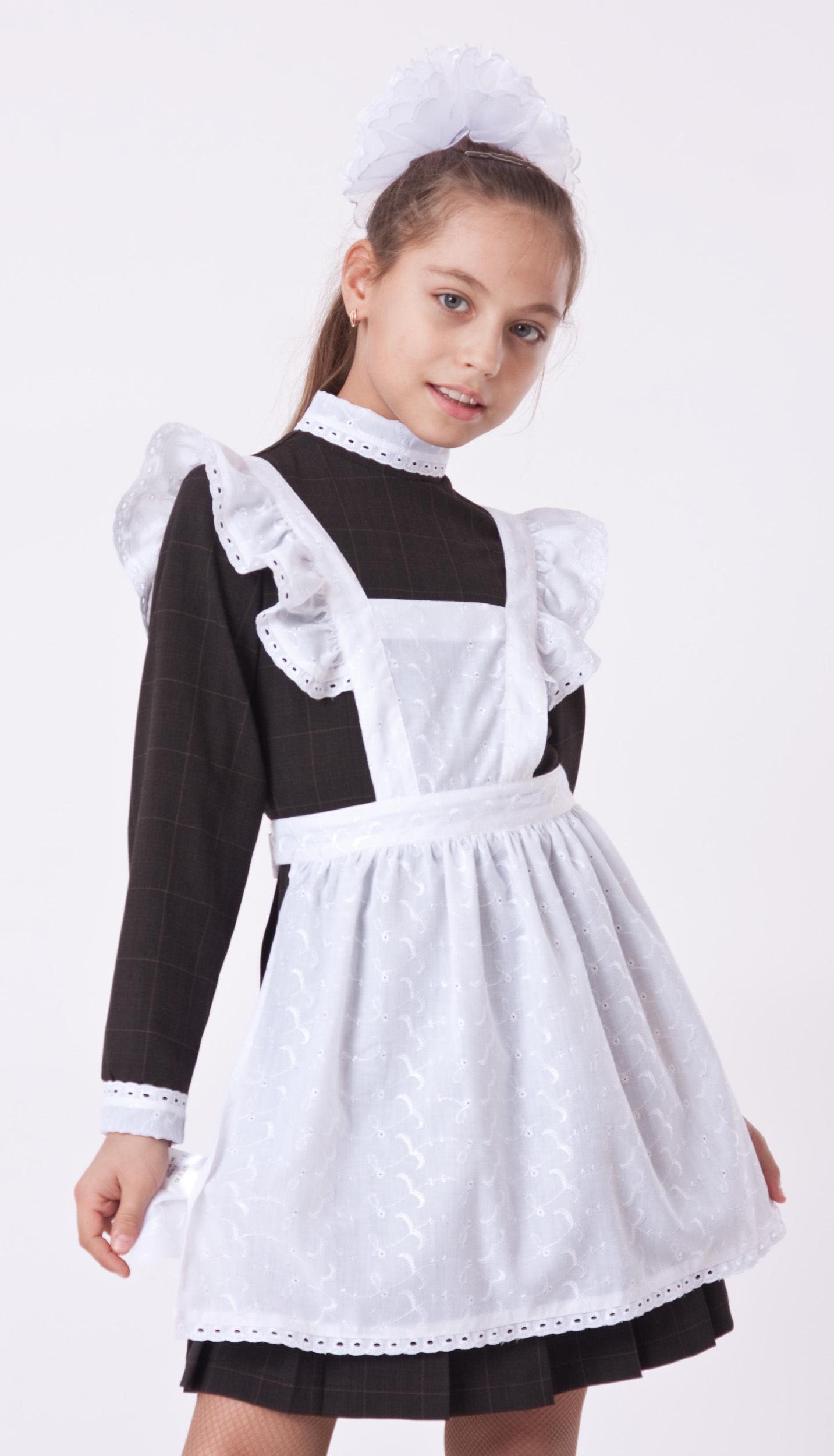 Платье на 1 сентября с фартуком